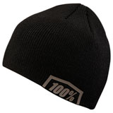 100% Essential Beanie Black/Steel Grey