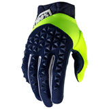 100% Airmatic Gloves Navy/Flo Yellow