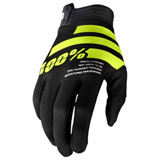 100% iTRACK Gloves Black/Fluo Yellow