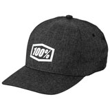 100% Generation Flex Fit Hat Charcoal Heather
