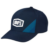 100% Cornerstone X-Fit Snapback Hat Navy