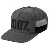 100% Frontier Snapback Hat Grey Heather