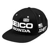 100% Geico/Honda Podium Snapback Hat Black/White