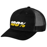 100% League X-Fit Snapback Hat Black