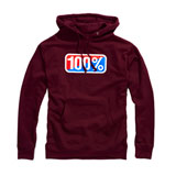 100% Classic Hooded Sweatshirt 2019 Maroon