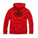 100% Essential Hooded Sweatshirt Red