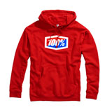 100% Official Hooded Sweatshirt Red