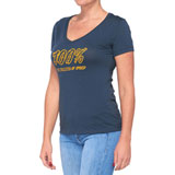 100% Women's Speedco T-Shirt Navy