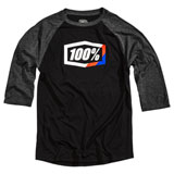 100% Stripes 3/4 Sleeve Tech T-Shirt Black