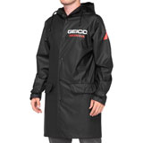 100% Geico/Honda Slicker Hooded Raincoat Black