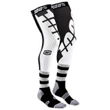 100% Rev Knee Brace Socks Black/White