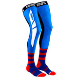 100% Rev Knee Brace Socks Blue/Red