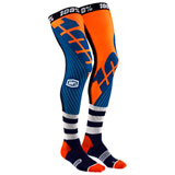 100% Rev Knee Brace Socks Navy/Orange