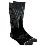 100% Torque Moto Socks Black/Steel Grey