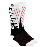 100% Torque Moto Socks Black/White