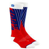 100% Torque Moto Socks Red/Blue