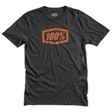 100% Essential T-Shirt Charcoal Heather/Bronze