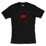 100% Plot T-Shirt Black/Red