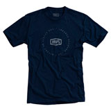 100% Plot T-Shirt Navy/Slate Blue