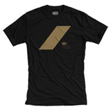100% Slash T-Shirt Black/Gold