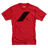 100% Slash T-Shirt Red/Black
