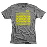 100% Slot T-Shirt Heather Grey/Flo Yellow