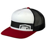 100% Youth Quest Snapback Hat Brick Red