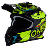O'Neal Racing Youth 2 Series Villain Helmet Neon Yellow