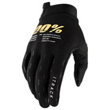 100% iTRACK Gloves Black