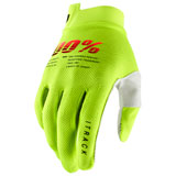 100% iTRACK Gloves Fluorescent Yellow