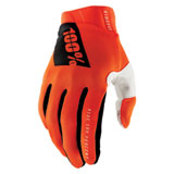 100% Ridefit Gloves Fluorescent Orange