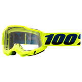 100% Accuri 2 Goggle Fluo Yellow Frame/Clear Lens