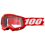 100% Accuri 2 Goggle Red Frame/Clear Lens