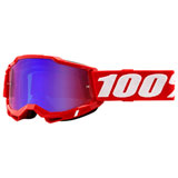 100% Accuri 2 Goggle Red Frame/Red Mirror Lens