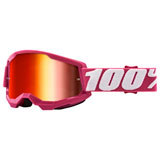 100% Strata 2 Goggle Fletcher Frame/Red Mirror Lens