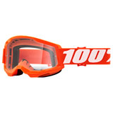 100% Strata 2 Goggle Orange Frame/Clear Lens