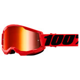 100% Strata 2 Goggle Red Frame/Red Mirror Lens