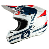 O'Neal Racing 5 Series Sleek Helmet White/Blue/Red