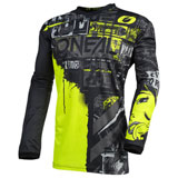 O'Neal Racing Youth Element Ride Jersey Black/Neon Yellow