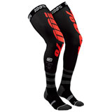 100% Rev Knee Brace Socks Black/Red