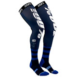 100% Rev Knee Brace Socks Navy/White