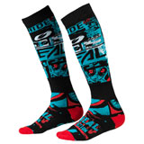 O'Neal Racing Pro MX Print Socks Ride Black/Blue