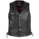 Pokerrun Cutlass 2.0 Leather Motorcycle Vest