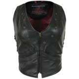Pokerrun Women's Vixen Leather Vest