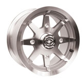 Polaris OE 8 Spoke Wheel Polished