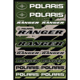 Polaris Ranger Logo Sticker Sheet