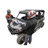 Polaris Lock & Ride Hard-Coat Full Poly Flip Down Windshield