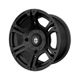 Polaris SIXr Alloy Wheel by Pro Armor Flat Black
