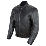 Power-Trip Graphite Leather Motorcycle Jacket