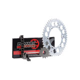 Primary Drive Alloy Kit & X-Ring Chain Silver Rear Sprocket